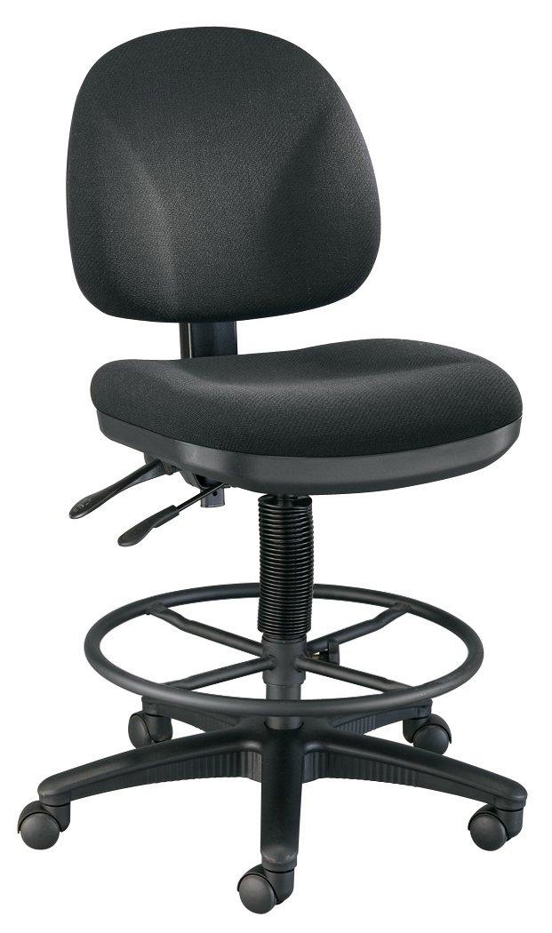 Alvin DC310-40B Prestige Artist/Drafting Chairs 21 inch Black Foot Ring