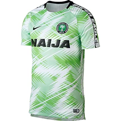 Amazon com : Nike 2018-2019 Nigeria Dry Pre-Match Training