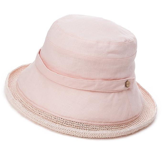 421ff10b719bfa Siggi Womens Summer Bucket Boonie UPF 50+ Wide Brim Linen Sun Hat Crushable  Beach Accessories