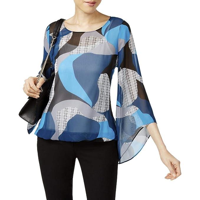 d0e13aa54de7c3 Alfani Womens Angel-Sleeve Knit Blouse at Amazon Women s Clothing store