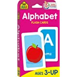 School Zone - Alphabet Flash Cards - Ages 3 and Up, Preschool, Letter-Picture Recognition, Word-Picture Recognition, Alphabet