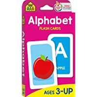 School Zone - Alphabet Flash Cards - Ages 3 and Up, Preschool, Letter-Picture Recognition, Word-Picture Recognition…
