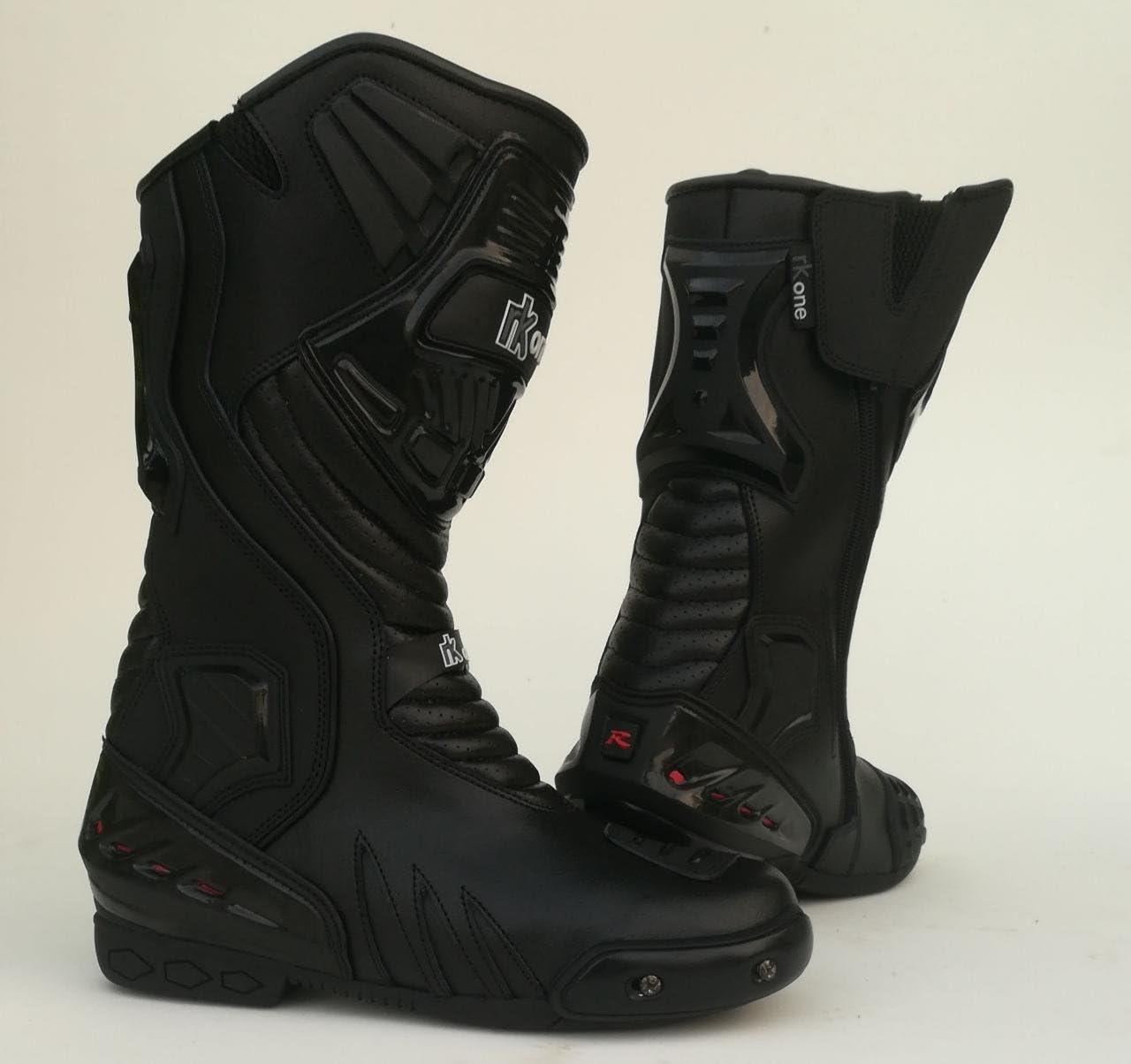 RKsports RKone Racer Waterproof Motorbike Motorcycle Boots Black