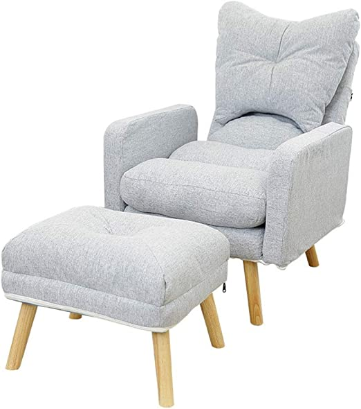 Amazon.com: Bjzxz Sofa Modern Fabric Armchair with Ottoman ...