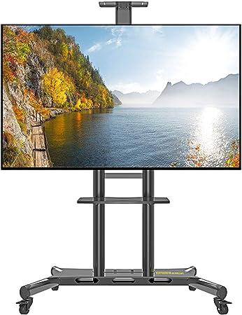 ZYH-Shelf Carro De TV con Ruedas para LCD LED Plasma Flat Panel Stand 50-80 Pulgadas Altura Ajustable Soportes De Piso Estante De Pantalla De TV para Sala De Estar, Oficina: Amazon.es: Hogar