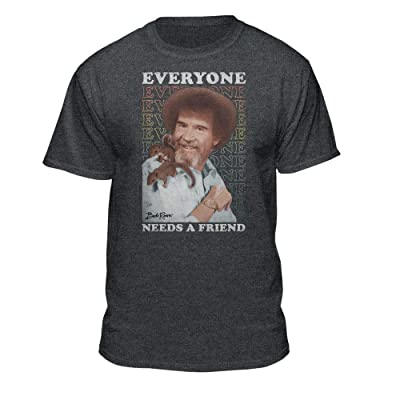 Teelocity Bob Ross Everyone Needs A Friend Graphic T-Shirt | .com