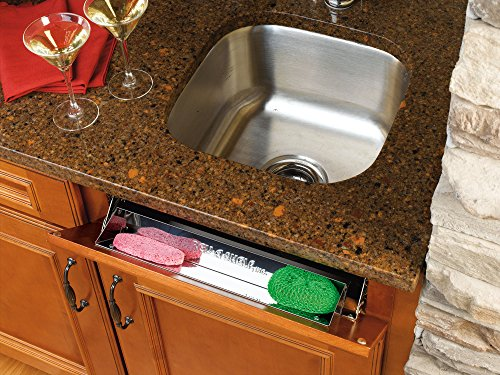 Rev-A-Shelf - 6541-19-52 - 19 in. Stainless Tip Out Sink Front Tray (Tip Steel Tray Stainless)