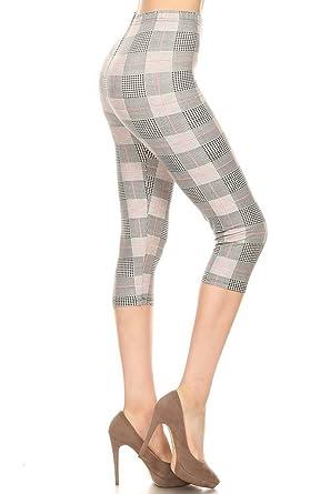 c9d70b6f48b1 Leggings Depot Women's Plus Size High Waisted Capri Print Leggings ...