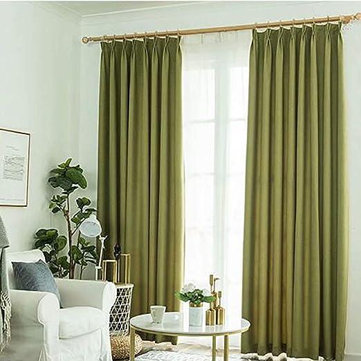 XFANAFAN Nordic - Cortinas Lisas de algodón para salón, Dormitorio ...
