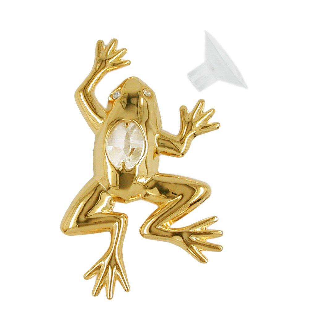 Window Decoration SUNCATCHER FROG Crystal Temptations Swarovski Spectra Elements 24K Gold-Plated - Decorative Home Ornament Keepsake Gift Figure Figurine