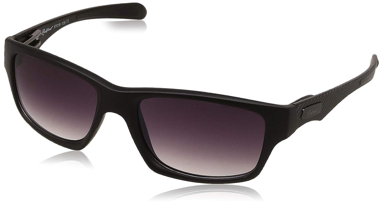 Rockford UV Protected Rectangular Unisex Sunglasses - (RF-073-C4|57|Grey-Black Color Lens)