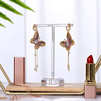 3pcs Clear Acrylic Earrings Necklace Jewelry Display Rack Stand Organizer Holder