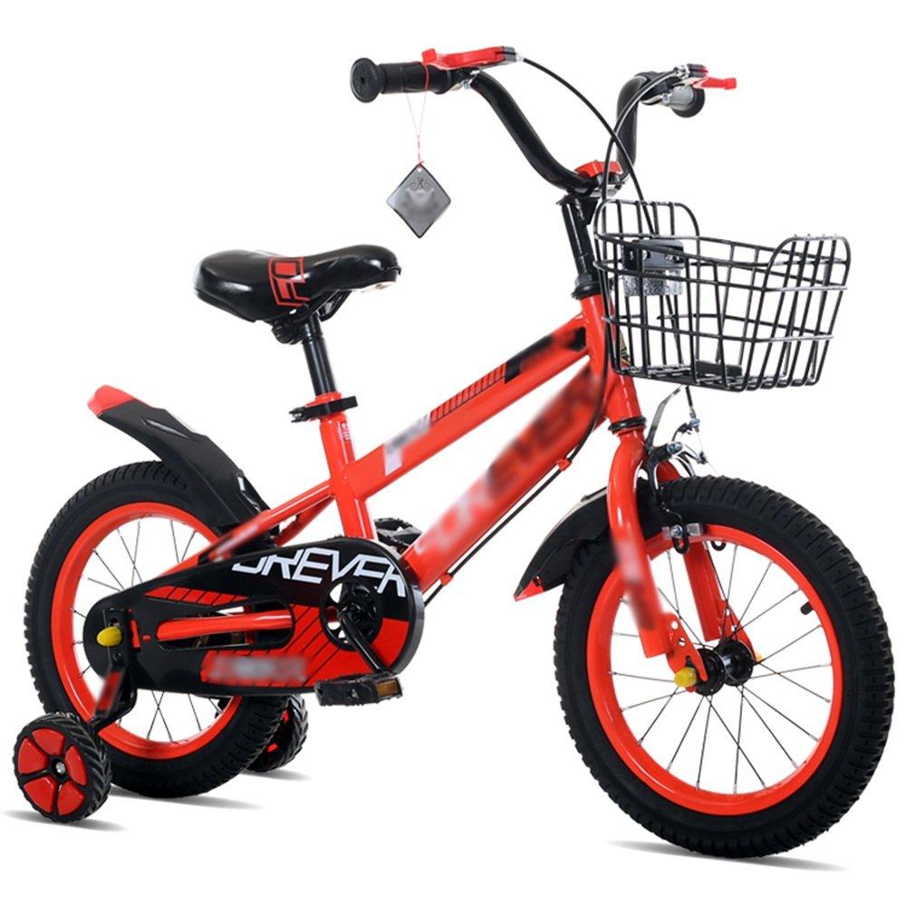HAIZHEN マウンテンバイク 子供用自転車ベビーキャリッジ12/14/16/18インチマウンテンバイク高炭素鋼材青緑色レッドセキュリティファッション 新生児 B07C6WQCSK 16 inch|赤 赤 16 inch