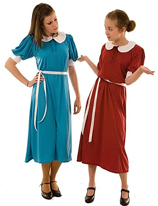 1940s Children's Clothing: Girls, Boys, Baby, Toddler 1940s-WW2-Wartime Kingfisher Evacuee Dress World Book Day Fancy Dress Costume - All Ages $38.49 AT vintagedancer.com