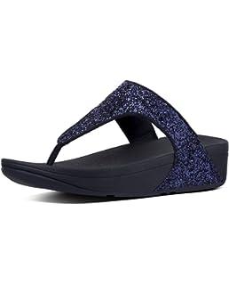 FitFlop Glitterball Post T-Strap Sandales pour Femme- NoirNoir , 41