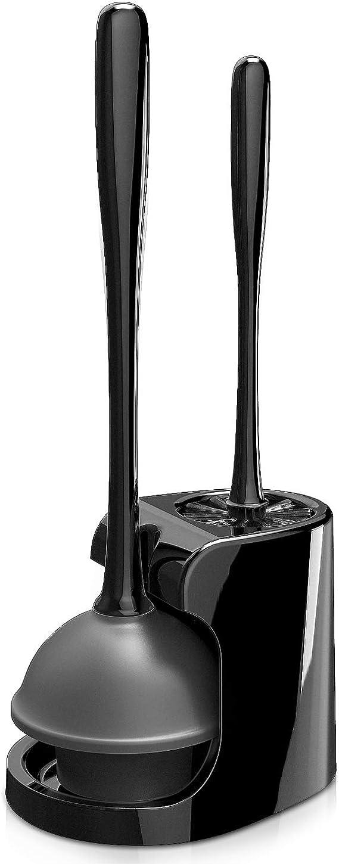 MR.SIGA confezione da 1 Scopino per WC con setole morbide colore: grigio e nero