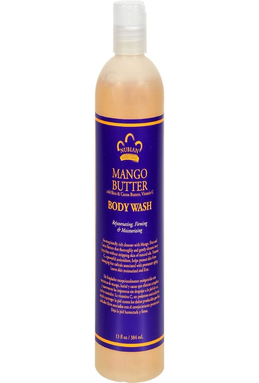 Nubian Heritage Mango Butter Body Wash With Shea Butter & Vitamin C, 13 Oz
