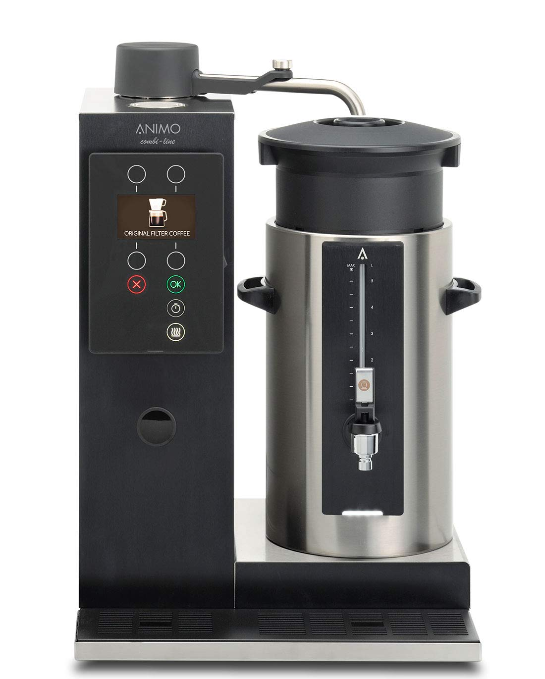 Animo Cafetera Eléctrica Combi Line CB 1 x 5 l/r: Amazon.es ...