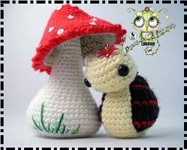 SETA CON MARIQUITA AMIGURUMI PERSONALIZABLE (Bebé, crochet, ganchillo, muñeco, peluche,