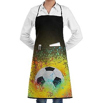 Amazon.com  CFMBUI Pigment Football Bib Apron With Pockets For Women ... 899cc4622e