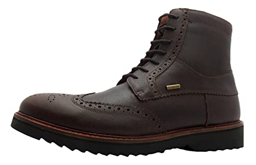 0b30f1e7effd Size 11 Men s U Chester Abx Geox Coffee Wingtip Brogue Style Combat Boots