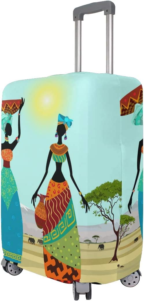 FANTAZIO African Women In Mountain Landscape Suitcase Protective Cover Luggage Cover