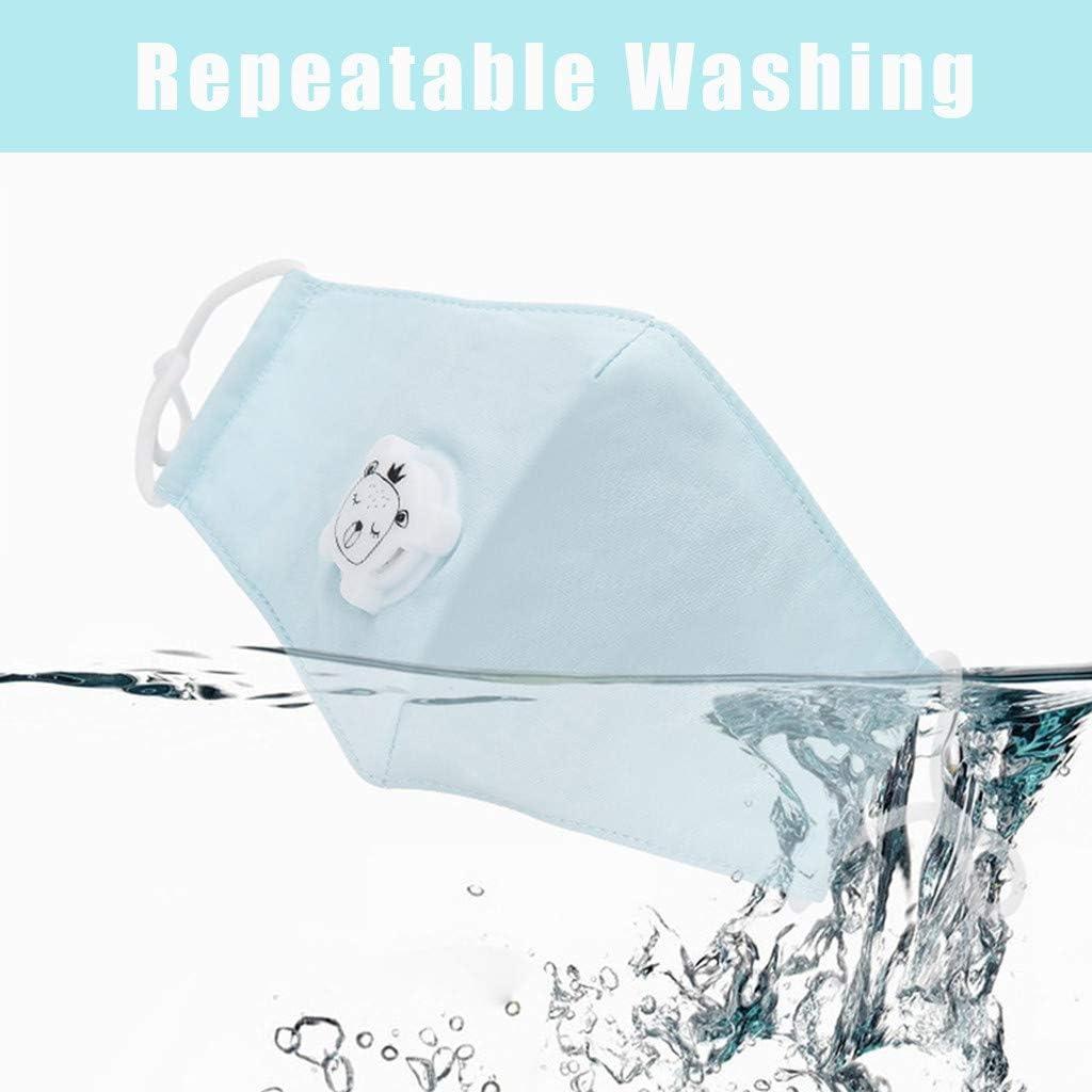 Reasoncool Waschbare 3 Lagige Aktivkohlefilter Entl/üftungsventil Aus Baumwolle Bandana H/ängendes Ohr Sonnenschutz