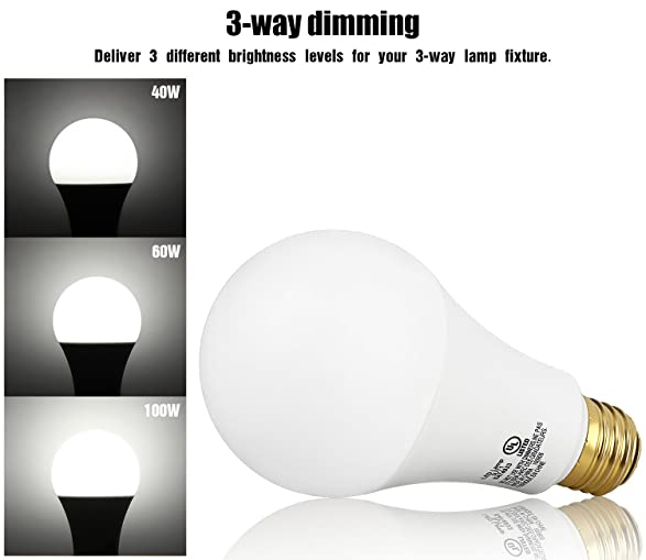 3-Way 40/60/100W Equivalent LED A21 Light Bulb, ENERGY STAR + UL ...