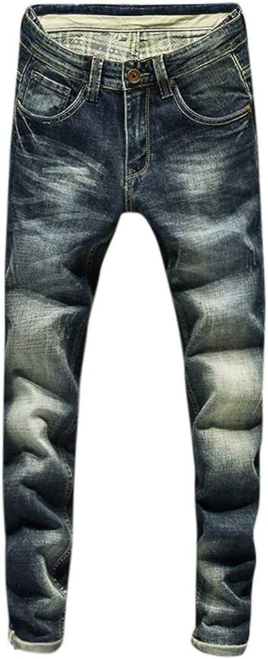 Vpass Pantalones Vaqueros Para Hombre Pantalones Casuales Moda Jeans Sueltos Ocasionales Elasticos Pantalon Fitness Pants Largos Pantalones Ropa De Hombre Amazon Es Ropa Y Accesorios