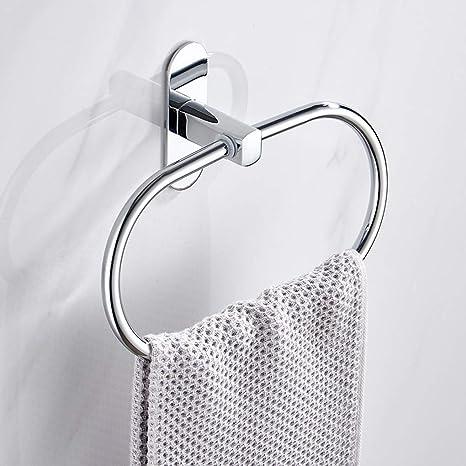 WZFC Anillo de Soporte Toalla Acero Inoxidable Colgador Colgante, baño sin Perforaciones Accesorios de baño