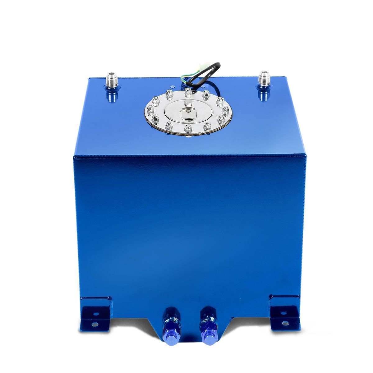 DNAMotoring ALU-FT-T2-ALU-RD Aluminum 5-Gallon Fuel Cell Gas Tank