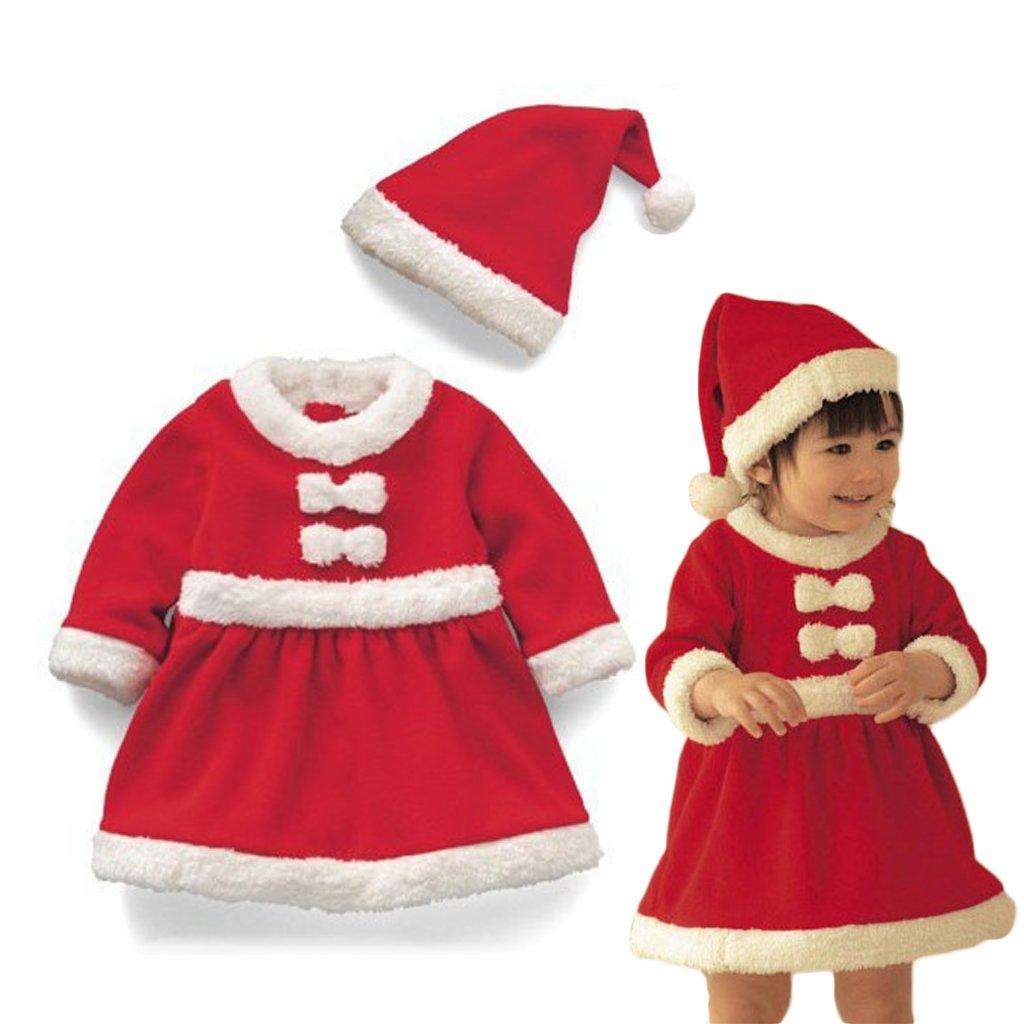 Vine Bebé Niño de Navidad Ropa de Santa Claus De Bebé Ropa + sombrero chicas Vine Trading Co. Ltd B160815PF004304V