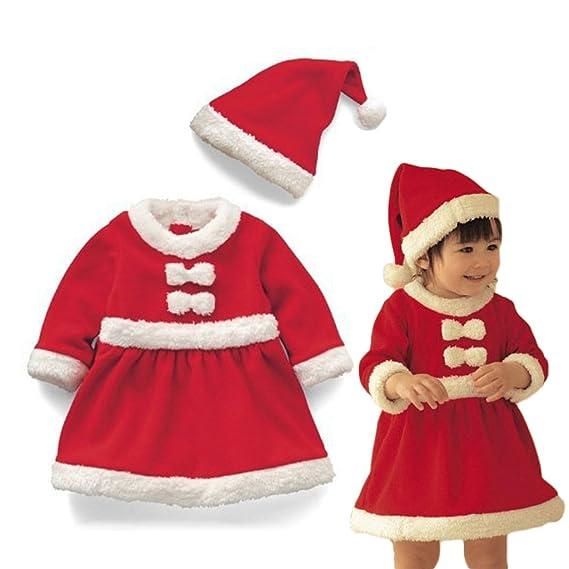 Vine Bebé Niño de Navidad Ropa de Santa Claus De Bebé Ropa + sombrero chicas: Amazon.es: Bebé