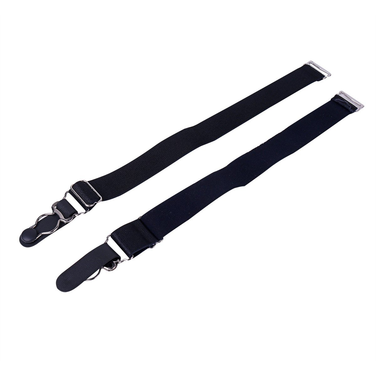 TiaoBug Elastic Garter Belts Corset Holders Stockings Fastener Suspender with Duck-Mouth Metal or Plastic Clip