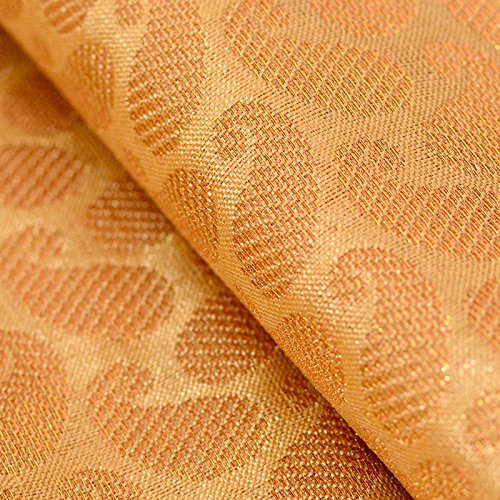 Golden Silk Cloth - Shopolics Golden large paisley shape brocade silk fabric-4690, Party wear Dress Material By The Yard