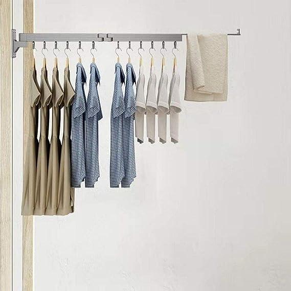 blau QWH Balkon Gabelstange die Kleiderb/ügel f/ür W/äschestange versenkbare Stange Trockenstange Gabel Kleiderstift platzsparenden Kleiderst/änder