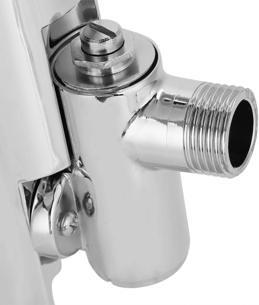 Fdit V/álvula de Descarga de Urinario de Lat/ón de Inodoro de Sensor Autom/ático de Touchless Montado en Pared para Ba/ño WC Socialme-EU