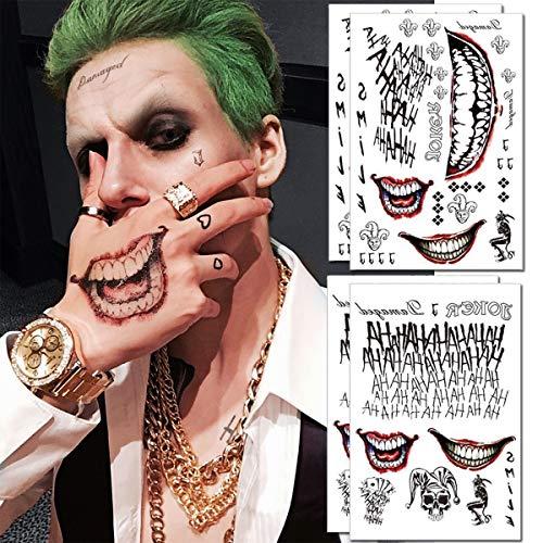 Joker Tattoos - 4 Sheets The Joker Temporary Tattoos