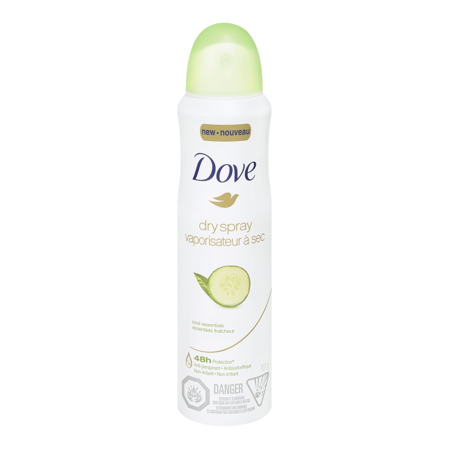 Dove Cool Essentials Dry Spray Antiperspirant 107g Unilever CA