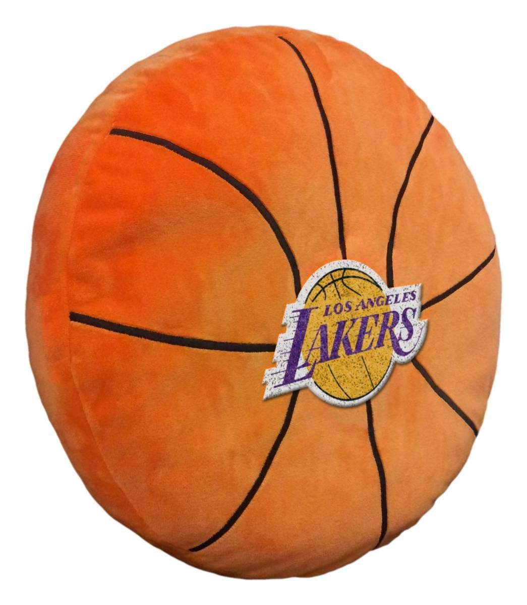 Officially Licensed NBA Los Angeles Lakers ''3D'' Basketball Shaped Pillow, Orange, 15'' x 15'' x 2'' by The Northwest Company