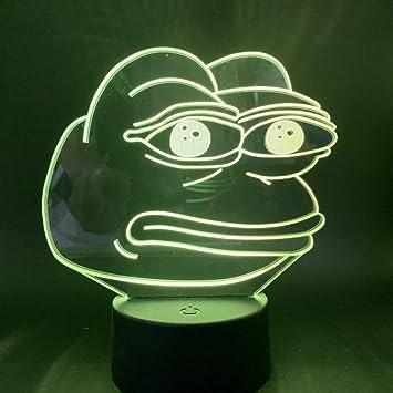 Colorful LED Decorative Lamp Friendly Frog Nursery Lamp /& Kid/'s Room Light