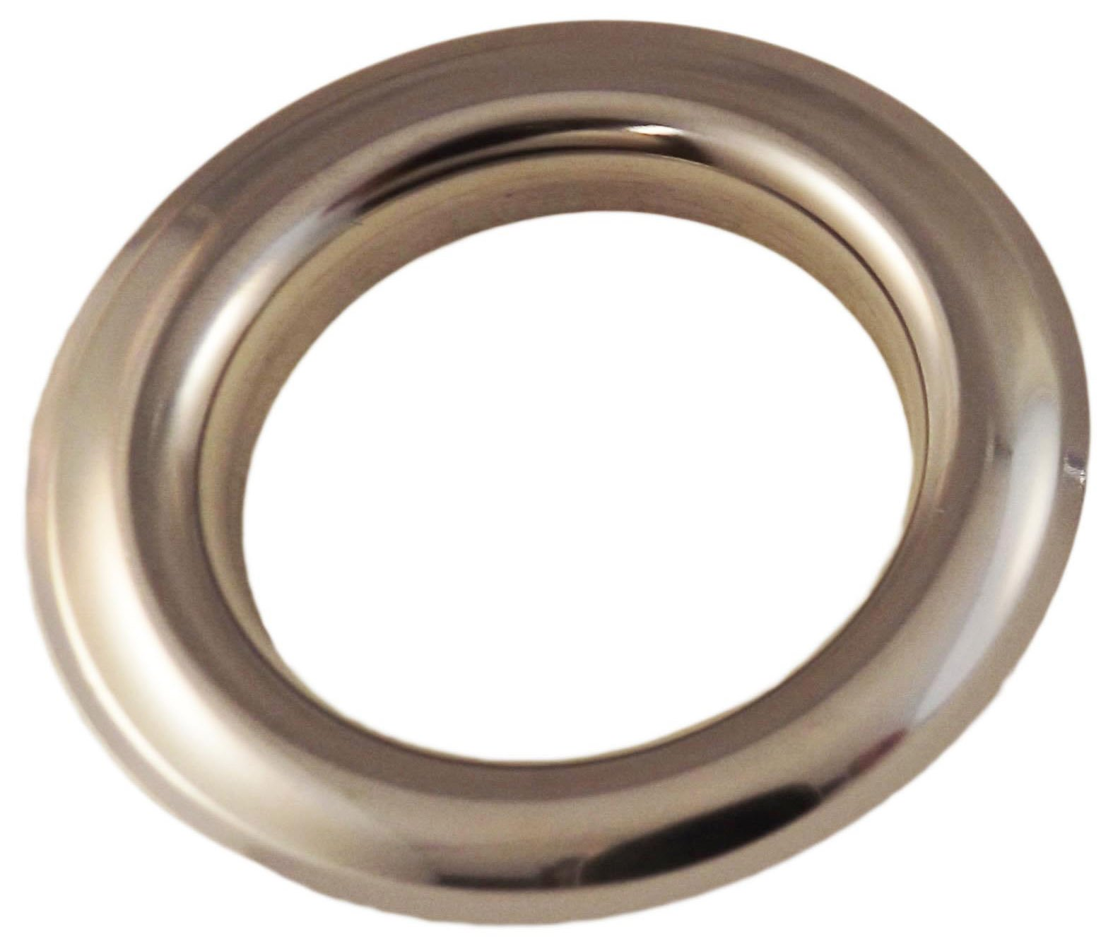 Large Chrome Metal Curtain Drapery Hardware Supplies #12-1 9/16 inch Inner Diameter Decorative Grommet/Rings w/Washer Eyelet Lot of 10/25 / 50/100 pcs (Pack of 100) by Lushes Curtains