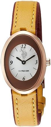 U.S.Polo ASSN Reloj Ovalado de Cuarzo para Mujer, Esfera de ...