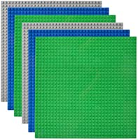 "Lekebaby Classic Baseplates Building Base for Building Bricks 100% Compatible with Major Brands-Baseplate 10"" x 10"", Pack..."