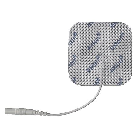 Selbstklebend und langlebig 50x50mm Passend zu Cefar Compex 2mm-Stecker 8 x EMS- und TENS-Elektroden-Pads axion Markenqualit/ät