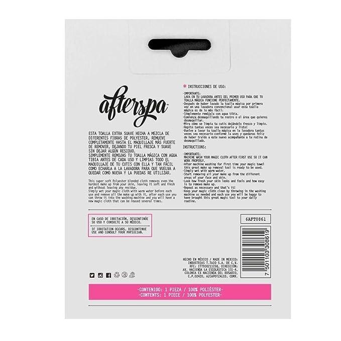 AfterSpa, Magic Make Up Remover Reusable Cloth, Pink, 1 Cloth ...