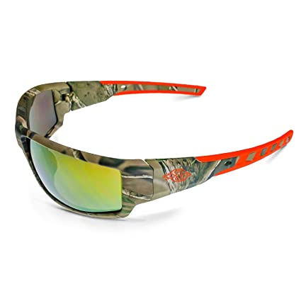 7b6c84572c Crossfire Eyewear 411432 Cumulus Safety Glasses with Gold Mirror LENS    Camo Frame