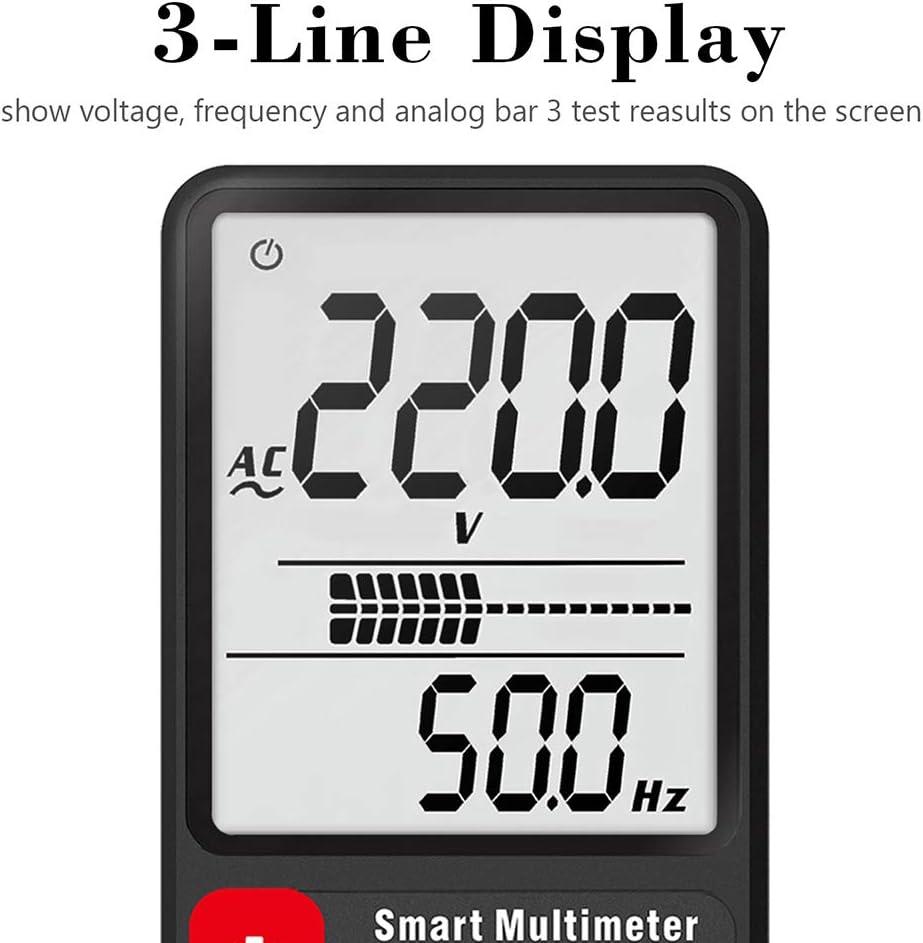 Yhtumn Smart Auto Digital Multimeter 3,5-Zoll-Gro/ßbild-Display Spannungsfestigkeit Tool ADMS9