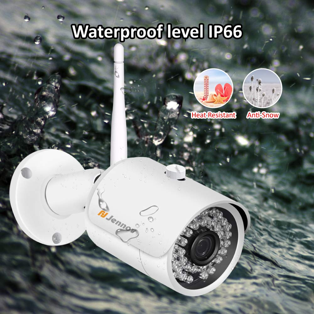 【Newest Strong WiFi Arrival】Jennov Security Camera System Outdoor Wireless 4 Channel HD 1080P WiFi Home IP Video Surveillance Night Vision NVR Kit With Pre-installed 1TB Hard Drive Free Remote Access by Jennov (Image #7)