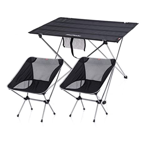 LJFYMX Mesa y sillas de Camping La Mesa de Acampada Incluye ...